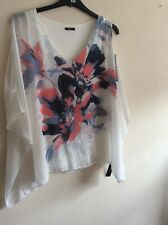 Roman Originals Size 16 Cream Multi Floral Tunic Top BNWT