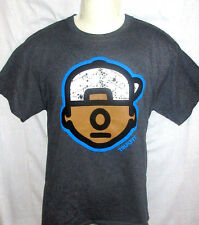 MENS TRUKFIT CHARCOAL HEATHER TOMMY T-SHIRT SIZE S