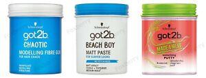 SCHWARZKOPF Got 2B Hair Chaotic Moulding Gum Made4Mess Beach Boy Matt Peste