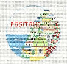 SP.ORDER ~ POSITANO, ITALY  Ornament Needlepoint Canvas by Kathy Schenkel RD.