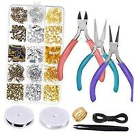 Anezus Jewelry Repair Kit with Jewelry Pliers, Jewelry Making Tools, Beading Str
