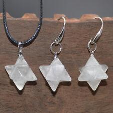 Natural Gemstone Merkaba Healing Reiki Chakra Pendant Earrings Necklace