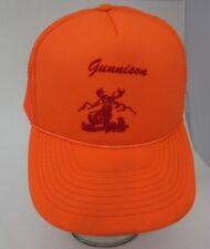 Vintage Trucker Hat Gunnison  Orange Hunting Cap A8
