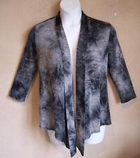ALBERTO MAKALI Stretchy Open Front EASYWEAR Jacket in Grays & Black S