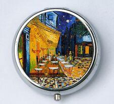 Cafe Terrace at Night Pill case pillbox box holder fine art painting van Gogh