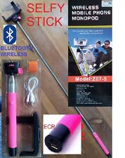 SELFY ALL IN ONE PINK STICK TELESCOPIC SELFIE  ANDROID BLUETOOTH GOPRO HTC