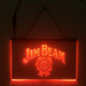 Jim Beam LED Sign Bourbon Whiskey Man Cave