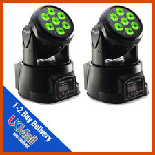 2 x Stagg Headbanger 10 RGBW DEL Compact DJ Disco Club Party Moving Head Light