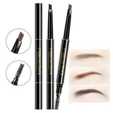 Double Head Eyebrow Pencil Waterproof Makeup Automatic Eye Brow Pen with Brush