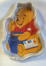 """Wilton Winnie the Pooh Cake Pan with Instructions Vintage 1995 Aluminum 13"""""""