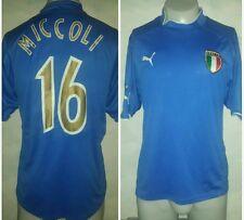 MAGLIA ITALIA 16 MICCOLI CALCIO FOOTBALL MAILLOT JERSEY TRIKOT SOCCER SHIRT