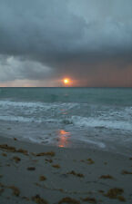 "'Florida Stormy Beach Sunrise'  Seascape Poster 11"" x 17"" glossy"