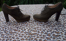 MANAS LEA FOSCATI Taupe/Brown shoes booties size 38, UK 5