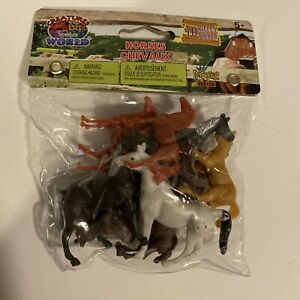 "Assorted Farm Animals Figure Toy Play-Set Plastic - 10 Pc - 1""-3"" Horse Figures"