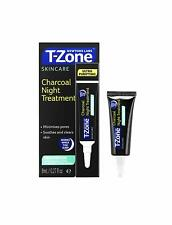 T-Zone Charcoal Night Treatment 8ml Soothes & Clears Skin Paraben Free Blemish