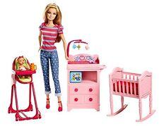 Barbie Careers Babysitter Playset (Discontinued) Baby Drink & Wet Room Nurcery