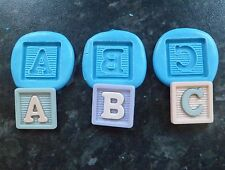 Baby Abc Bautizo Shower Molde Molde Sugarcraft Decorando Tortas Fimo Arcilla