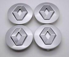 4X 60mm Silver Car Refitting Wheel Center Hub Caps Rim Emblems Badge For RENAULT