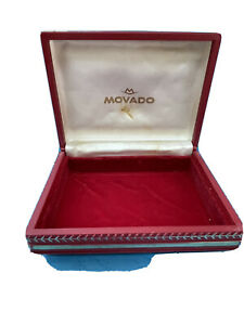 Authentic Vintage Rare MOVADO Box Case watch for  Vintage Chronograph 1960s R