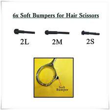 6x 2L 2M 2S Replacement Black Rubber Bumper Hair Scissors Barber Shears Parts