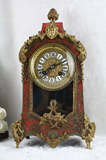 Antique French 1930 Wbk paris Boulle cartel clock putti brass inlaid