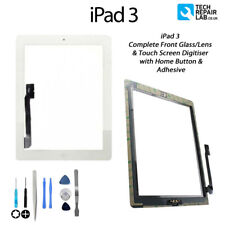 NEW iPad 3 Complete Front Glass/Digitiser Touch Screen Assembly with Tools WHITE