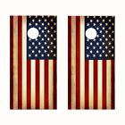 Cornhole Wraps Rustic American Flag Red White Blue 2 Vinyl Sheets