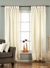 "Cream Tab Top 90% blackout Curtain / Drape / Panel - 50X84"" - Piece"
