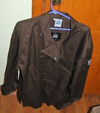 Chef Revival double breasted brown chef coat with snaps - Size Large - New