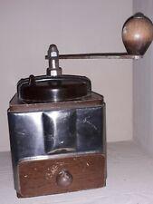 ANCIEN MOULIN A CAFE PEUGEOT FRERES  PEUGINOX BOIS BAKELITE ACIER INOXYDABLE