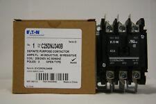 Eaton C25DNJ340B Contactor 208/240VAC Coil 3P 40A Ind 50A Res
