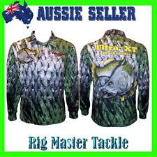 Barramundi Long Sleeve Fishing Polo Tournament Shirt Adults S-9XL Aussie Stock