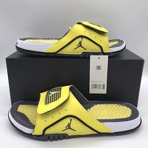 Nike Air Jordan Hydro IV Retro Lightning Tour Yellow Slides DN4238-701 Size 9-12