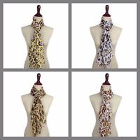 Women's Girls Animal Print Leopard LightWeight Spring Scarf Shawl Wrap Chiffon