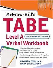 TABE Level A Verbal Workbook, printed, Diamond, Linda Eve, Dutwin, Phyllis, Very