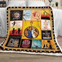 Basketball Girl Sofa Fleece Blanket 50-80 Made In US