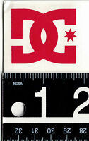 DC SHOES RED DECAL DC Shoes Vinyl 2 in x 1.75 in Red DC Skate Snow Moto Sticker