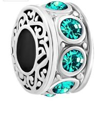 Turquoise Silver Plated Costume Charms