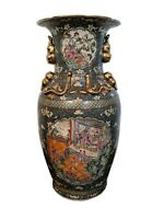 Antique Chinese Rose Medallion Large 37 inch Floor Vase / Urn / Temple Vase