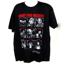 The Walking Dead Zombie Know Your Walkers Black Cotton Short Sleeve T Shirt XL