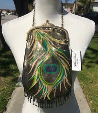 Whiting and Davis Mesh Purse Peacock Feather Design