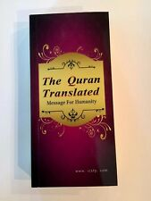 Holy Quran With Meanings Translation In English 10x3in