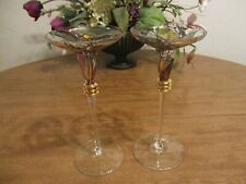 Partylite Mosaic Calypso Pillar Taper Candle Holders Lot Of 2