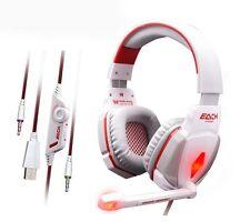 Spiel Kopfhörer Headset Gaming PC Laptop + Microphone PRO Gamer EACH G4000 BASS