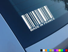 MADE IN FRANCE FUNNY CAR STICKER DECAL VINYL PEUGEOT SAXO RENAULT CITROEN 206