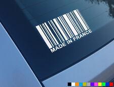 Hecho En Francia coche divertido pegatina de vinilo de Peugeot Saxo Renault Citroen 206