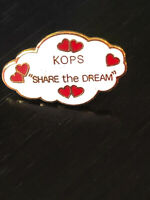 Vintage Collectible KOPS Share the Dream Colorful Metal Pin Back Lapel Pin
