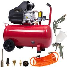 50L Air Compressor Oil Litre 2.5HP 8 BAR 230V 9.6CFM FREE 13pcs Gun Tool Kit