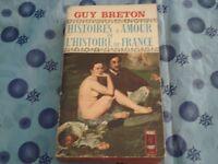 GUY BRETON - HISTOIRES D'AMOUR DE L'HISTOIRE DE FRANCE Ed. Presses Pocket 1968