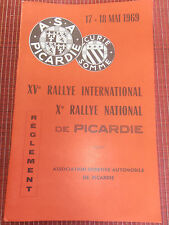 PROGRAMME XVe RALLYE INTERNATIONAL DE PICARDIE  ANNÉE 1969 ( R 2 )